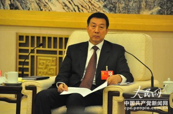 十八大代表、国资委主任王勇。人民网记者 曹华摄