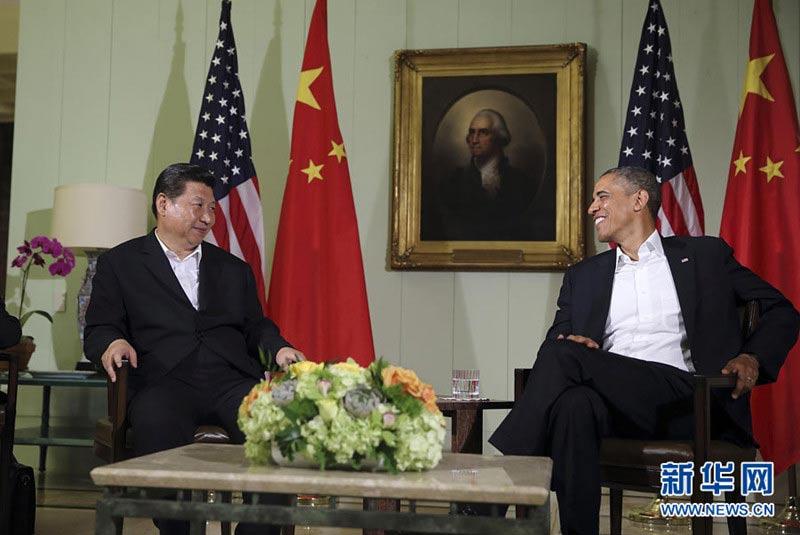【高清图集】习近平同美国总统奥巴马举行中美元首会晤