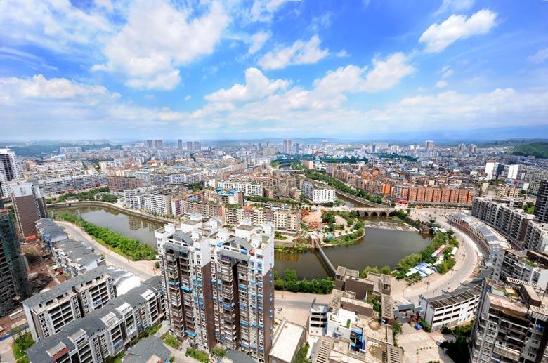 四川广安邓小平纪念馆-广安城区1-城市