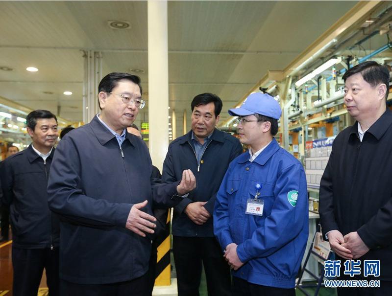 新一届中央领导集体履新一周年 张德江考察调研图集图片