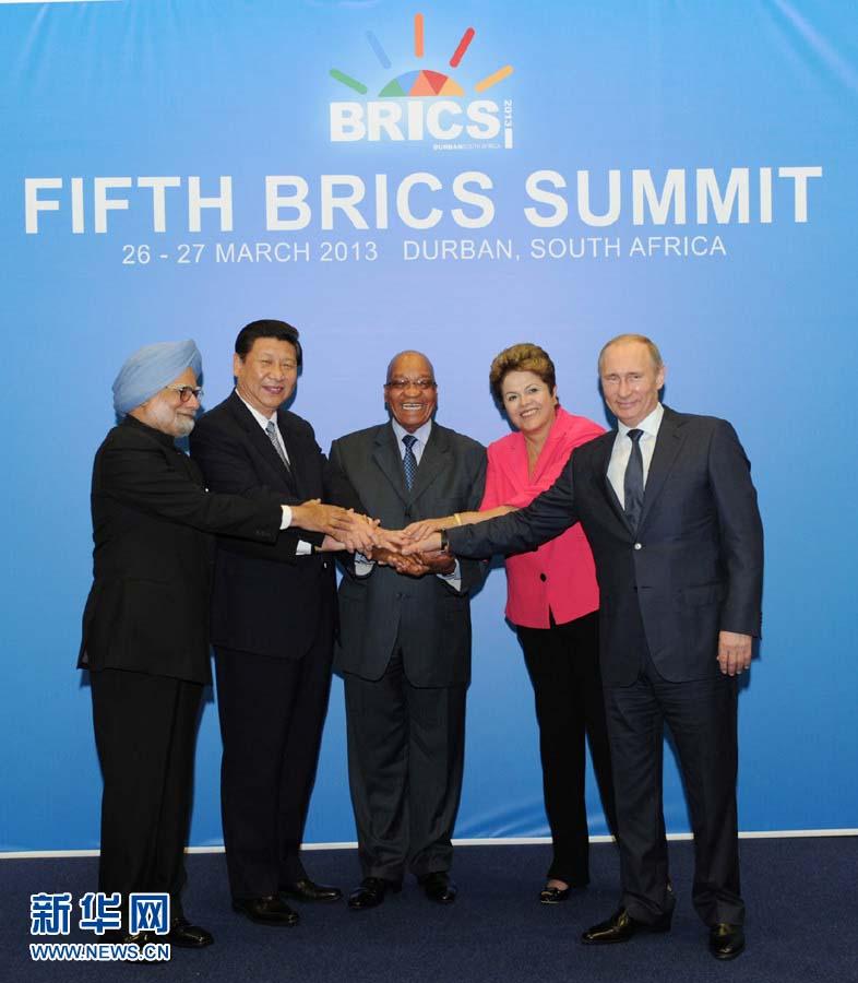 3月27日,国家主席习近平在南非德班出席金砖国家领导人第五次会晤图片