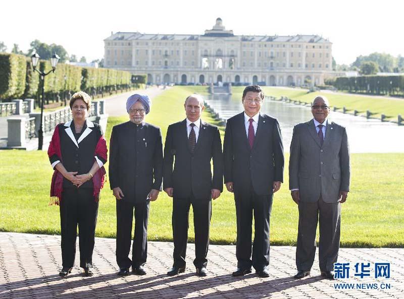 9月5日,国家主席习近平在圣彼得堡出席金砖国家领导人非正式会晤.图片