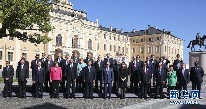 9月6日,国家主席习近平在圣彼得堡出席二十国集团领导人第八次峰会图片