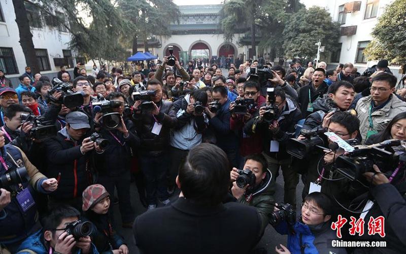 【高清图集】南京市委大院首次对外开放 市委书记门前