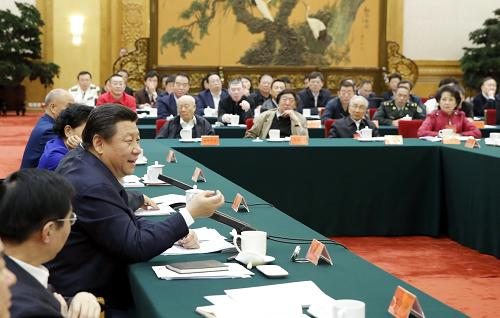 10月15日,中共中央总书记、国家主席、中央军委主席习近平在北京主持召开文艺工作座谈会并发表重要讲话。新华社记者 鞠鹏 摄