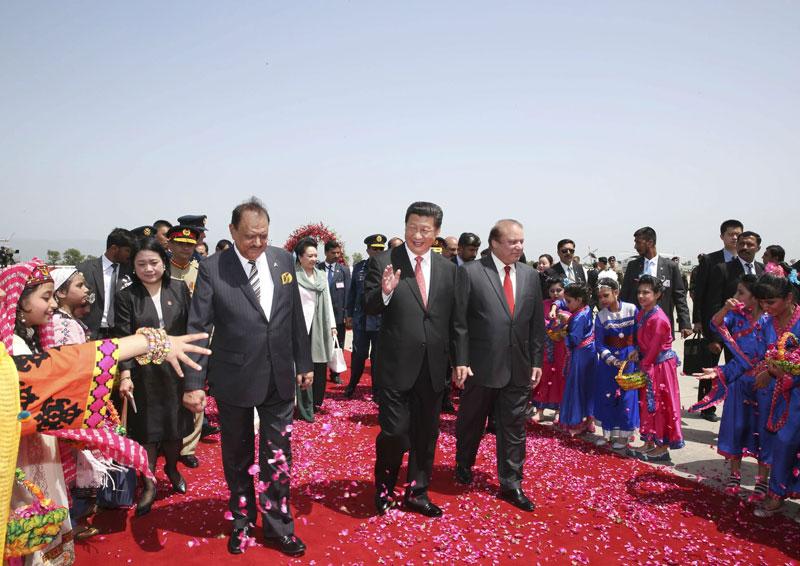4月20日,国家主席习近平在巴基斯坦首都伊斯兰堡出席巴基斯坦总统