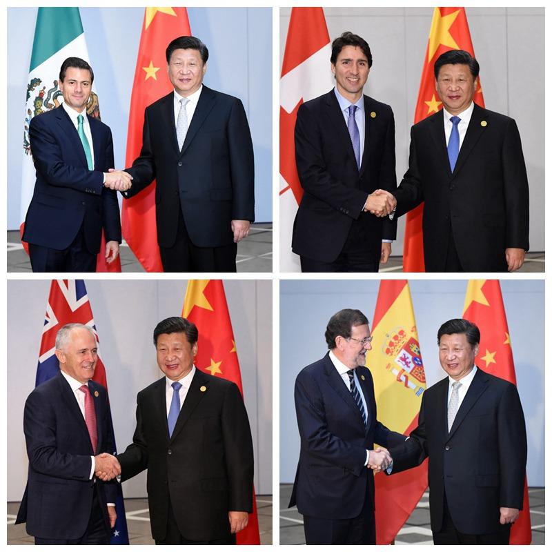 11月16日国家习近平在土耳其安塔利亚会见墨西哥总统培尼亚