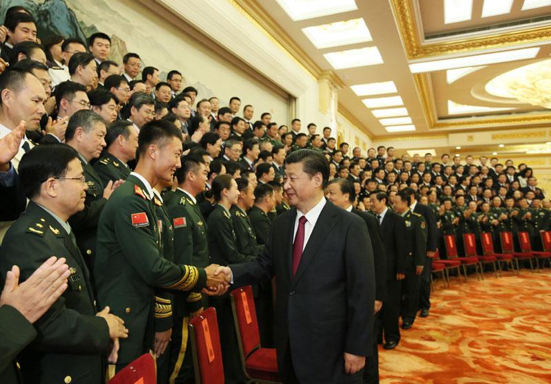6日,党和国家领导人习近平、刘云山等在北京人民大会堂会见中国图片