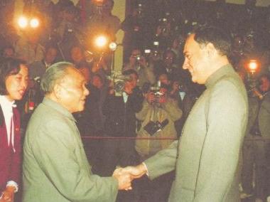 邓小平会见拉吉夫·甘地