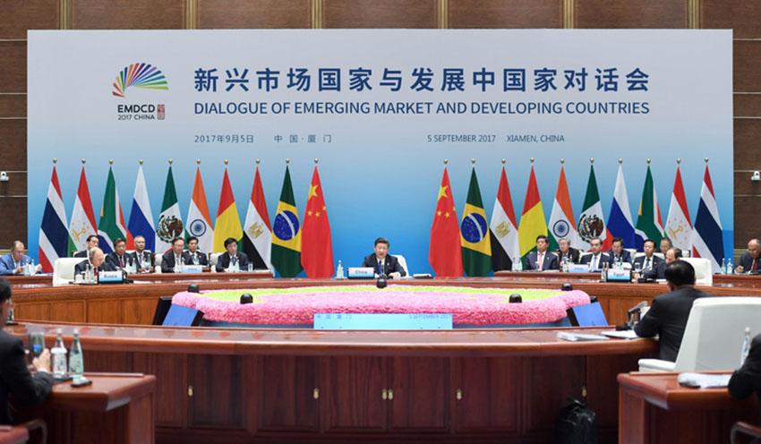 金砖国家领导人第九次会晤于9月3日至5日在福建省厦门市举行.其图片