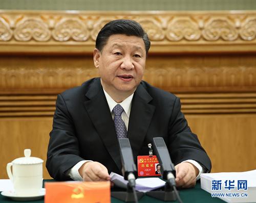 10月23日,中国共产党第十九次全国代表大会主席团在北京人民大会堂举行第四次会议。 习近平同志主持会议。新华社记者 兰红光 摄