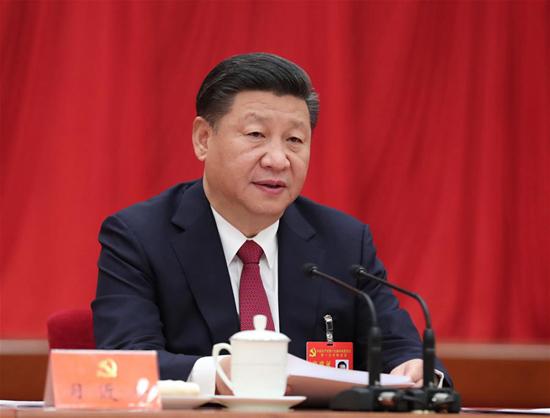 10月25日,中国共产党第十九届中央委员会第一次全体会议在北京人民大会堂举行。 习近平同志主持会议并作重要讲话。 新华社记者 刘卫兵 摄