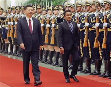 习近平同马尔代夫总统亚明会谈