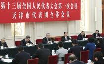 韩正参加天津代表团审议
