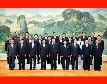习近平会见朝鲜劳动党友好参观团