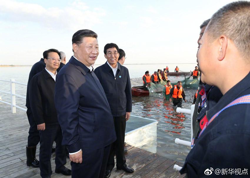 9月26日,中共中央总书记,国家主席,中央军委主席习近平在吉林省松原市