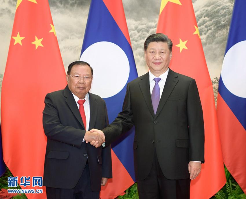 4月30日,中共中央总书记,国家主席习近平在北京同老挝人民革命党中央