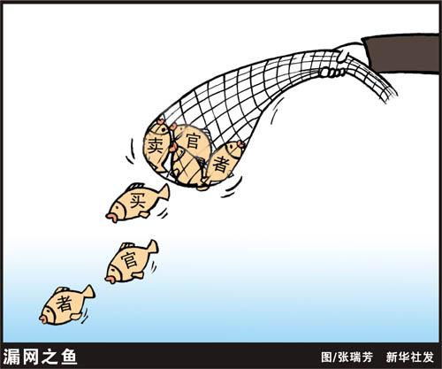 反腐死神:漏网之鱼--中国共产党全彩漫画本子新闻漫画图片