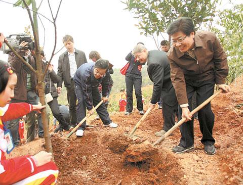 全民义务植树活动