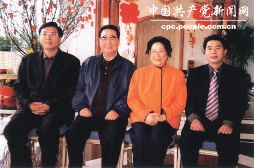 李鹏在深圳麒麟山庄与广东省领导合影