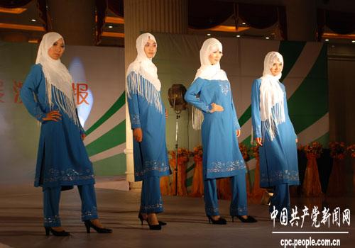 组图:银川回族特色服饰之礼仪装系列