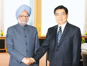 胡锦涛主席会见印度总理辛格