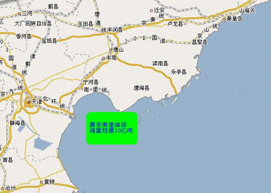 南堡油田地图
