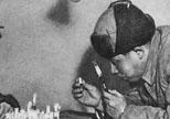 廖承志在朝鲜战场调查美帝国主义进行细菌战的罪行
