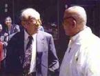 1991年张学良与吕正操在美国