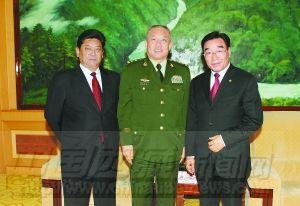 黎白玛赤林会见武警部队司令员王建平一行图片