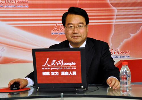 甘肃省华池县委书记马斌在人民网嘉宾访谈室